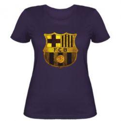 Женская футболка Логотип Барселоны - FatLine
