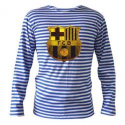 Тельняшка с длинным рукавом Логотип Барселоны - FatLine