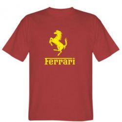 Мужская футболка логотип Ferrari - FatLine