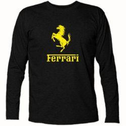 Футболка с длинным рукавом логотип Ferrari - FatLine