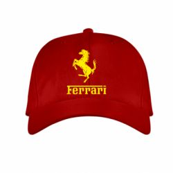 Детская кепка логотип Ferrari - FatLine