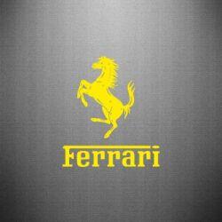 Наклейка логотип Ferrari - FatLine