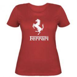 Жіноча футболка логотип Ferrari - FatLine
