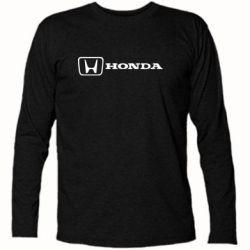 Футболка с длинным рукавом Логотип Honda - FatLine