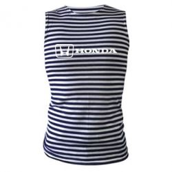 Майка-тельняшка Логотип Honda - FatLine