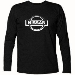 Футболка с длинным рукавом логотип Nissan - FatLine