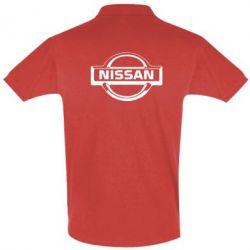Футболка Поло логотип Nissan - FatLine