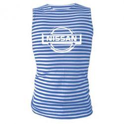 Майка-тельняшка логотип Nissan - FatLine