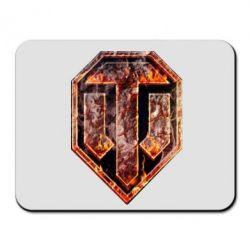 "Коврик для мыши Логотип World Of Tanks ""Раскаленный металл"" - FatLine"