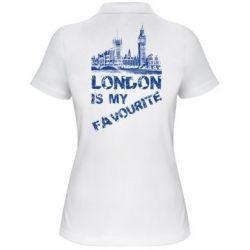 Женская футболка поло Лондон
