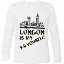 Футболка с длинным рукавом Лондон