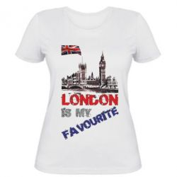 Женская футболка Лондон