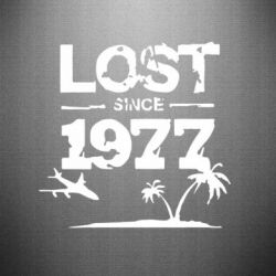 Наклейка LOST since 1977 - FatLine