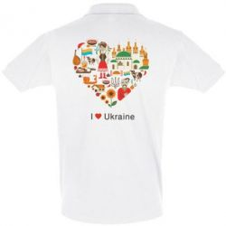 Футболка Поло Love Ukraine Hurt - FatLine