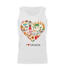 Мужская майка Love Ukraine Hurt - FatLine