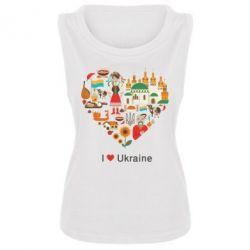Женская майка Love Ukraine Hurt