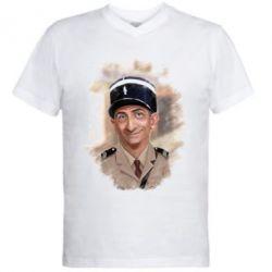 Чоловічі футболки з V-подібним вирізом Луі Де Фюнес