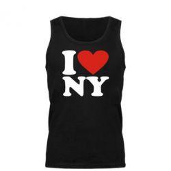 Мужская майка Люблю Нью Йорк - FatLine