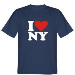 Мужская футболка Люблю Нью Йорк - FatLine