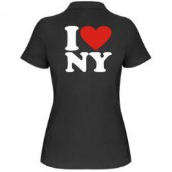Женская футболка поло Люблю Нью Йорк - FatLine