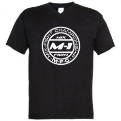 Мужская футболка  с V-образным вырезом M-1 Logo - FatLine