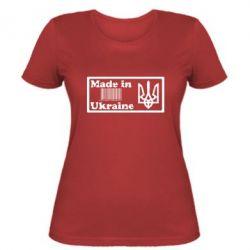 Женская футболка Made in Ukraine штрих-код