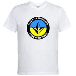 Мужская футболка  с V-образным вырезом Made in Ukraine - FatLine