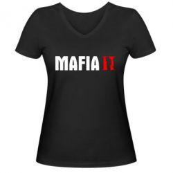 Женская футболка с V-образным вырезом Mafia 2 - FatLine