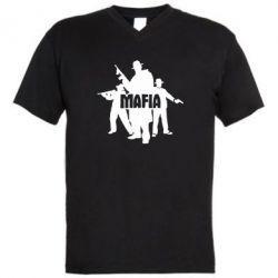 Мужская футболка  с V-образным вырезом Mafia - FatLine