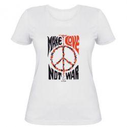 Женская футболка Make love, not war - FatLine