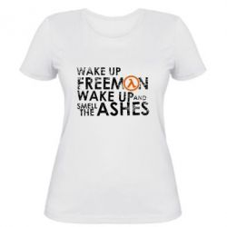 Женская футболка Make up, mr. Freeman