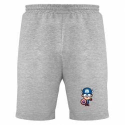 Мужские шорты Маленький Капитан Америка - FatLine