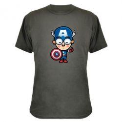 Камуфляжная футболка Маленький Капитан Америка - FatLine