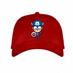 Детская кепка Маленький Капитан Америка