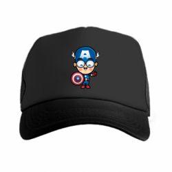 Кепка-тракер Маленький Капитан Америка - FatLine