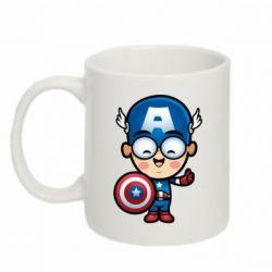 Кружка 320ml Маленький Капитан Америка - FatLine
