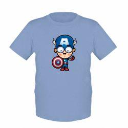Детская футболка Маленький Капитан Америка - FatLine