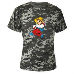 Камуфляжная футболка Маленький українець - FatLine