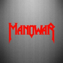 Наклейка Manowar - FatLine