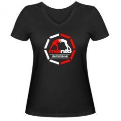 Женская футболка с V-образным вырезом Manto Zaporozhye - FatLine