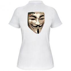 Женская футболка поло Маска Вендетта - FatLine