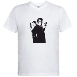Мужская футболка  с V-образным вырезом Max Payne 2 - FatLine
