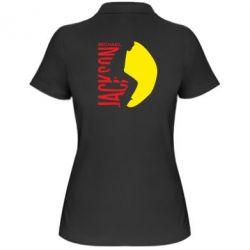 Женская футболка поло Майкл Джексон - FatLine