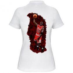 Женская футболка поло Майкл Джордан - FatLine