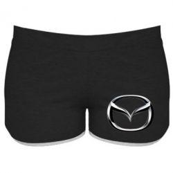 Женские шорты Mazda 3D Logo
