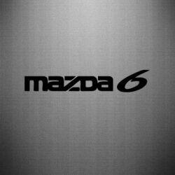 Наклейка Mazda 6 - FatLine