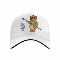 Кепка Медведь ловит рыбу - FatLine