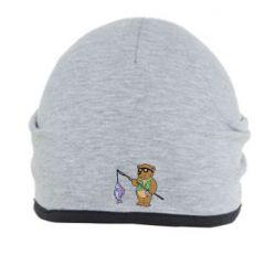 Шапка Медведь ловит рыбу - FatLine
