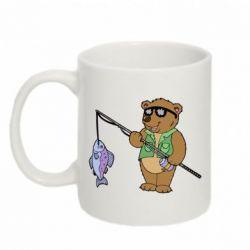 Кружка 320ml Медведь ловит рыбу - FatLine