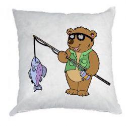 Подушка Медведь ловит рыбу - FatLine